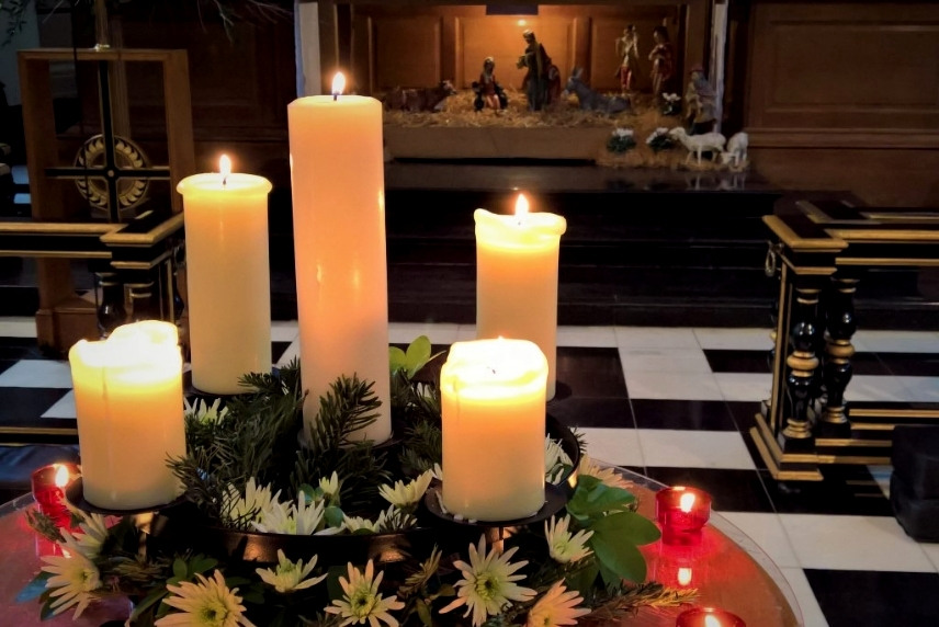 Candles lit in our Advent wreath each Sunday