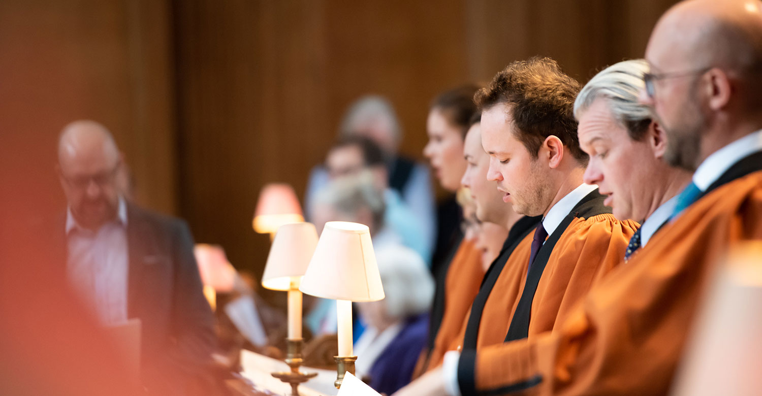 Music from our professional choir enhances our services