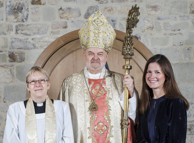 Confirmation of Lucy Wheeler by Bishop Richard Chartres accompanied by Canon Alison Joyce