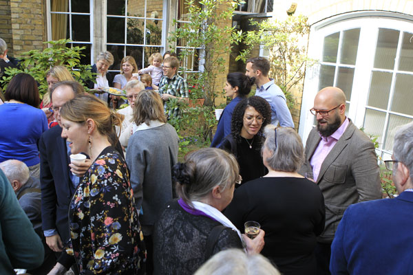 Refreshments in the Rector's garden after the Inspire celebration