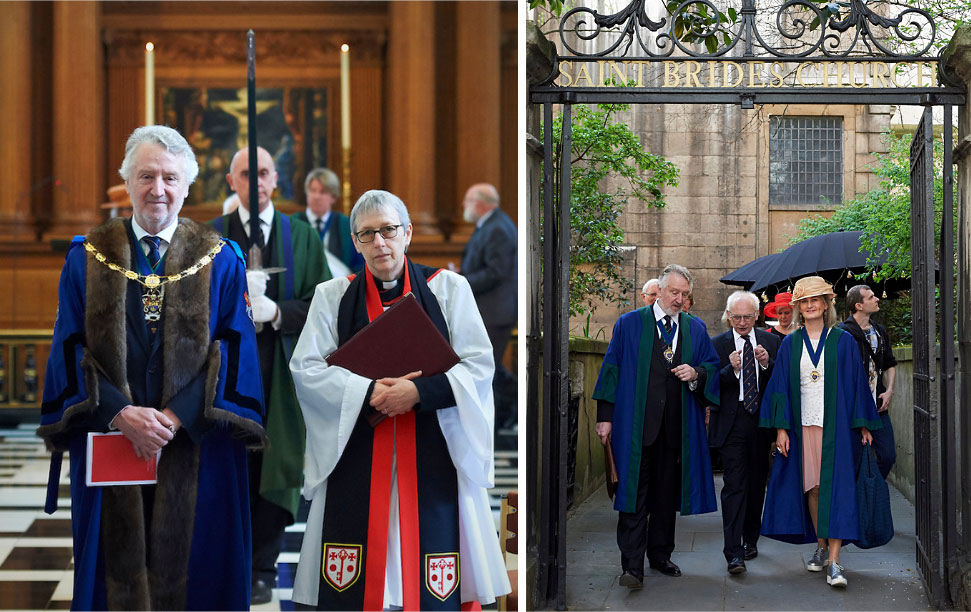 Worshipful Co of Marketors at their annual service of thanksgiving and re-dedicationannual