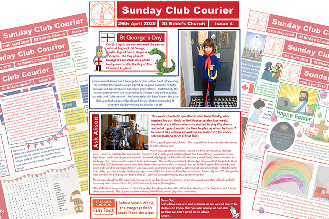 Sunday Club Courier: weekly bulletin