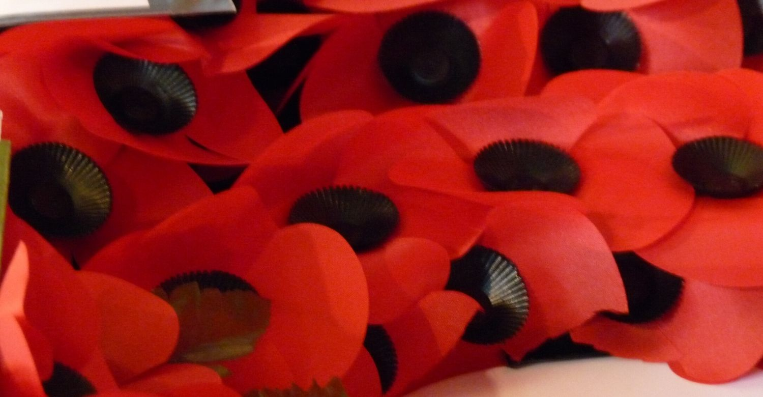 Poppy wreath for Remembrance Sunday