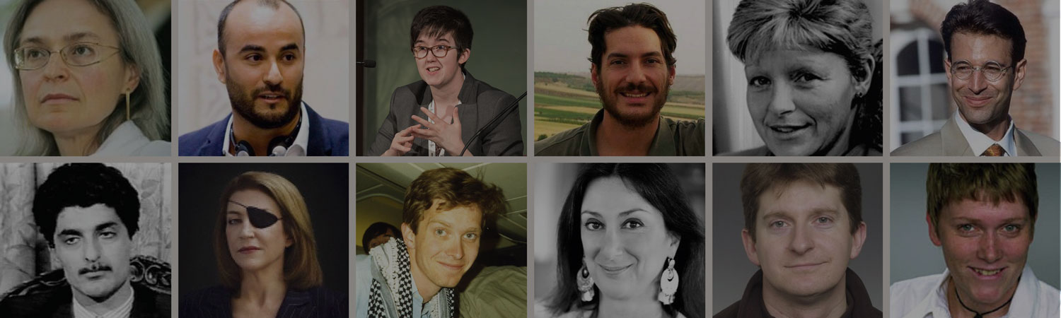 faces of journalists who have died or are missing or held captive