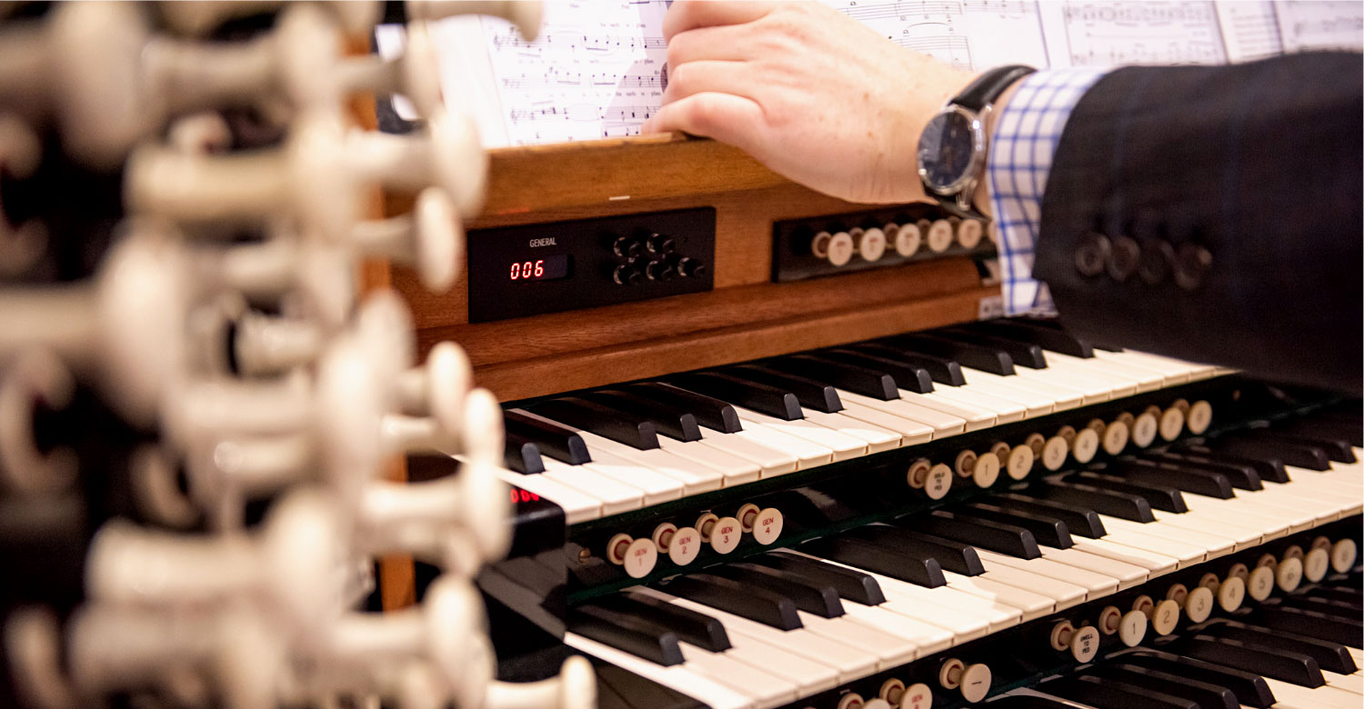 St Bride's Compton organ being player