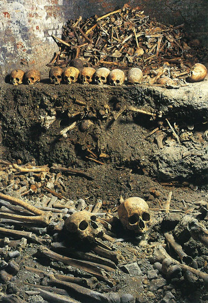 Bones and skulls in charnel house discovered in crypt of St Bride's