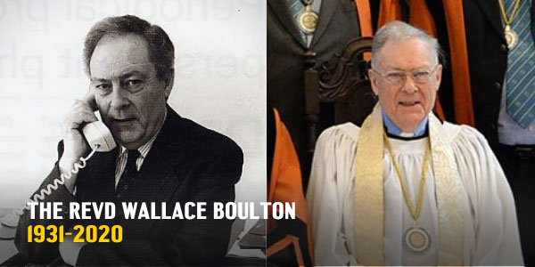 The Revd Wallace Bolton before and after his ordination and installment as Guide Chaplain