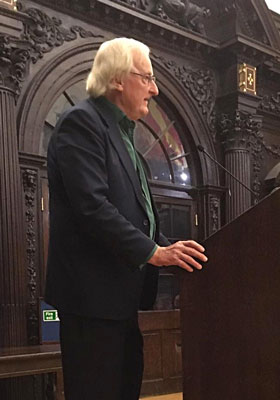 Guildsman Christopher McKane at book launch in Stationers' Hall