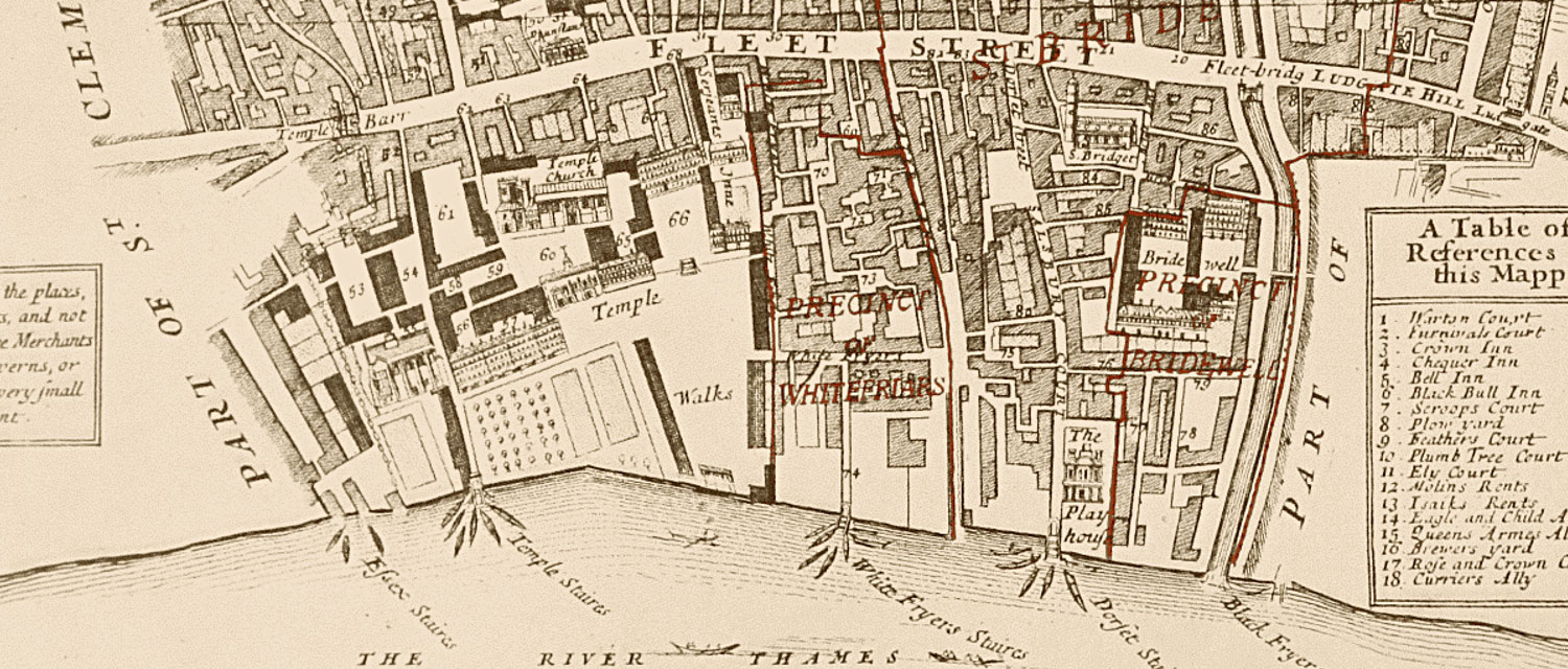 C18th map of Farringdon without