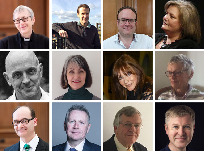 Montage of people who work at St Bride's