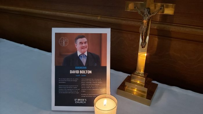 David Bolton remembered on our altar